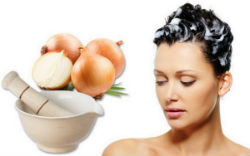 Лечение волос маской из лука